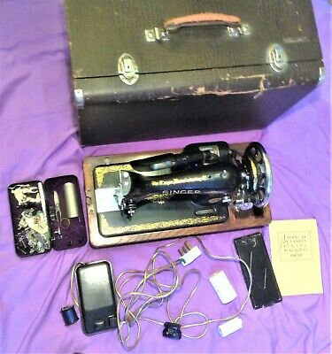 Rare Vintage Singer Electric Sewing Machine – EC164694 - With Case + accessories