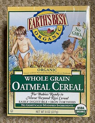 Earths Best Organic Oatmeal Cereal - BB - July 10, 2021 - Case Of 12