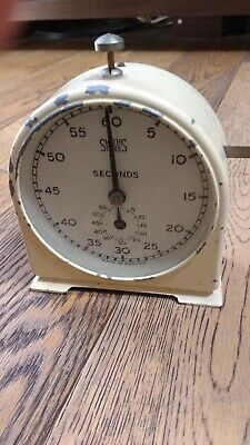 WORKING Vintage Smiths Seconds Timer Metal Mechanical Darkroom Photography