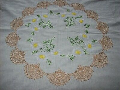 Vintage Hand Embroidered Tablecloth - Very Well Done