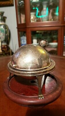 Antique silver plated ashtray from early 20th century made in England