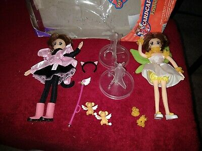 "2000 CardCaptors ""Sakura""- Fashion Dolls - Lot of 2 - w/Stands -    Box ? - COOL"