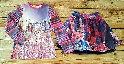 Girls Outfit Age 7 Yrs, Pezzo D'oro Designer Top & Skirt Formal/Party/Occasion