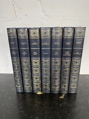 Heron Books The March Of History Collection (7 HardBacks) Blue & Gold Bindings