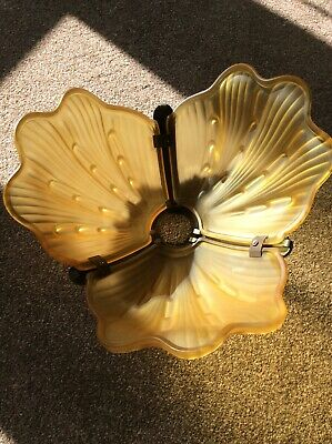 Very Rare Art Deco/ Vintage Original Odeon Style Uplighter Clam Shell