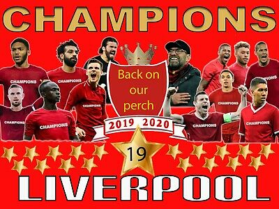 Liverpool Champions of England 2020 Premier League Winners Team Flag 4ft X 3ft