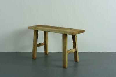 Vintage Rustic Antique Wooden Bench Stool