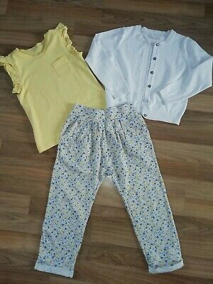 **Girls Next Leggings, Cardigan & George T Shirt Outfit Bundle Aged 4-5 Years**