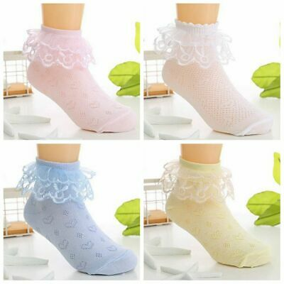 Summer Girls Kids Fashion Breathable Lace Ruffle Short Cotton Baby Ankle Socks
