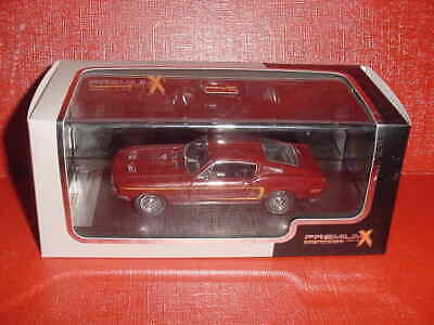 Ford Mustang Gt 390 Fastback 1968 Bordeaux 1/43 Premium X