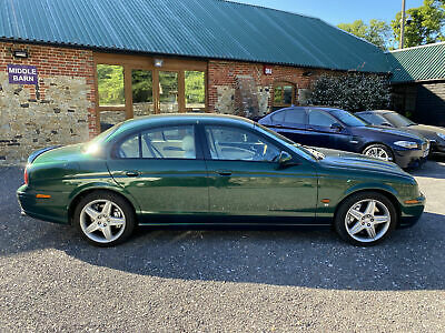 Jaguar S-TYPE 4.2 R V8 2004 Green 400bhp 78000 miles Full History Very Clean Car