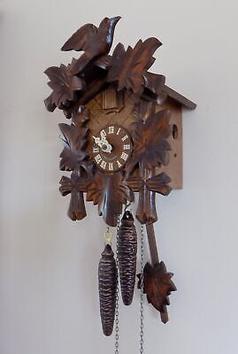 Excellent Quality Hubert Herr Black Forest Cuckoo Clock - Fully Working