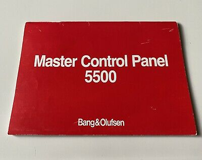 Bang & Olufsen Master Control Panel 5500 User Manual - Used B&O Instruction