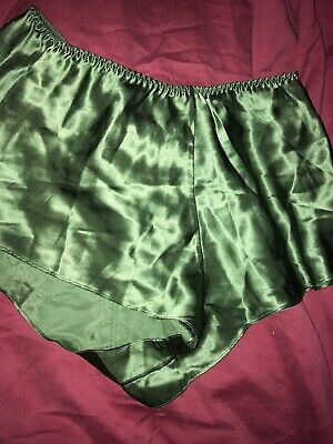 Vintage Victorias Secret Small 100% SILK Green pajama Sleep Shorts