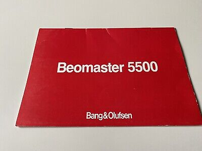 Bang & Olufsen Beomaster 5500 User Manual - Original Excellent B&O