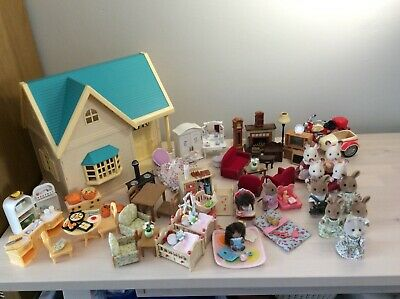 SYLVANIAN Families, Applewood Cottage, Rabbit Families, Furniture & Accessories