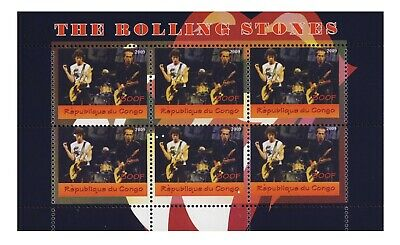 Famous people  The  Rolling Stones   MNH