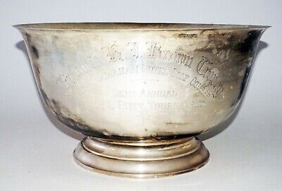 Vintage US Giant Sterling Silver P. Revere Repro Punch Bowl by Gorham (CLB)