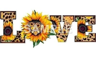 Sunflower sublimation or color iron on transfer (choice of 1)