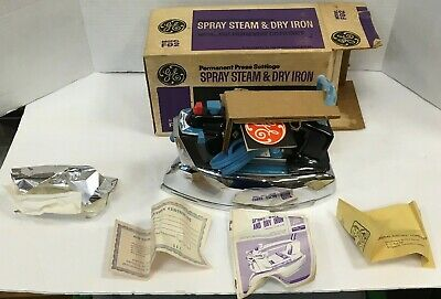 Vintage Ge General Electric Spray Steam & Dry Clothes Iron # F92 New In Box!