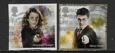 1) GB Stamps 2018 Harry Potter Set of Booklet Self Adhesives. Used.
