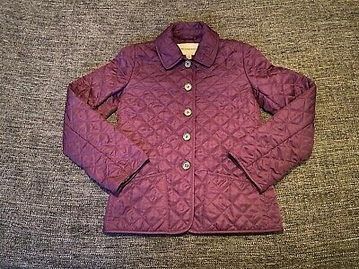 Burberry Purple Girls Quilted Jacket Coat Age 10 Years 140 Cm