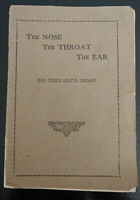 Vintage The Nose The Throat The Ear Medical Booklet 1890s Victorian Boston