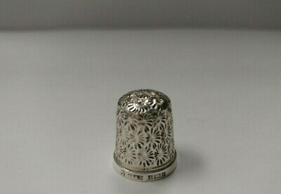 Sterling Silver James Swan & Son Thimble