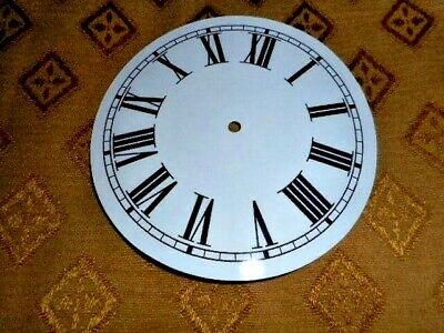 """Round Paper (Card) Clock Dial - 7 3/4"""" MINUTE TRACK- Roman - GLOSS WHITE - Parts"""