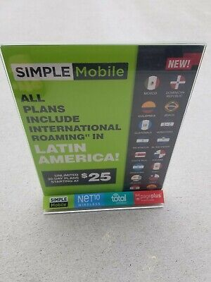 2Wireless Promo Image Stand-Up Double-Sided Sign Holder Plastic 81/2 x11 Insert