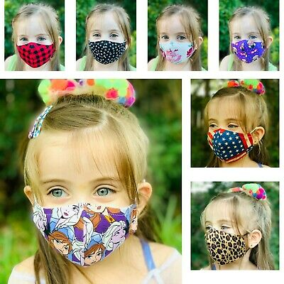 Kids Face Mask, 100% Cotton Fabric, MADE IN USA, Washable, Reusable