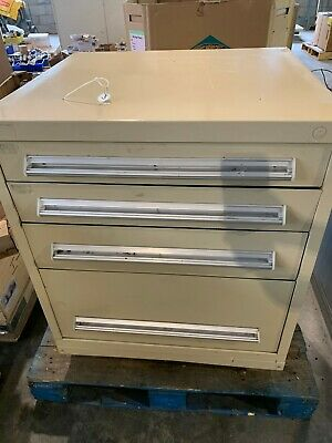 Used Stanley Vidmar style 4 Drawer cabinet tool parts storage 36""