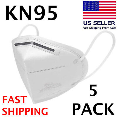 5 PACK KN95 Face Mask KN 95 Disposable Medical Surgical Mouth Cover Respirator