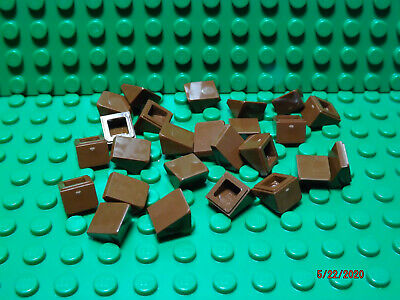 """** 25 CT LOT **  Lego NEW dark red 1 x 1 /""""cheese/"""" slope pieces   Lot of 25"""