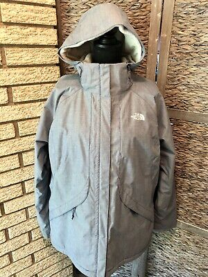 The North Face Women's Fleece Lined Coat Parka Jacket Light Blue XL