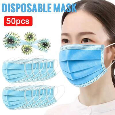 50Pcs/Pack Face Mask Air Purifying Mouth-muffle Fliter Respirator Fast Shipping