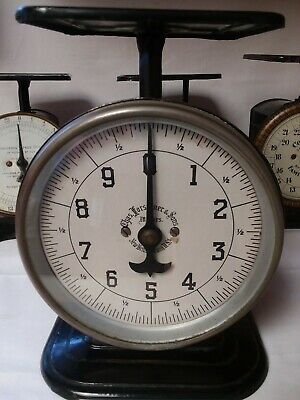 RARE ~ Antique 1880s CHAS FORSCHNER & Sons Scale~10 lb~Glass Face~Kitchen~Family