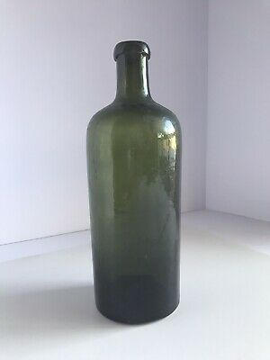 Antique Hunyaoi Janos Saxlehners Bitterquelle Bottle In Forest Green 8 3/4""