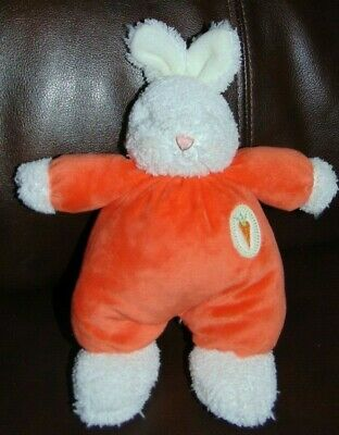 "Bunnies by the Bay Orange bunny rabbit plush 10"" NWT"