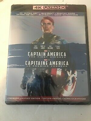 Captain America The First Avenger (4K + Blu-Ray +DC) Brand New Sealed