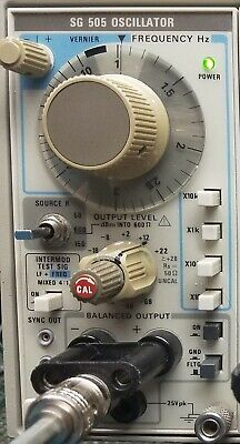 Tektronix SG505 Ultra Low Distortion Oscillator with option 02 - Tested  Working