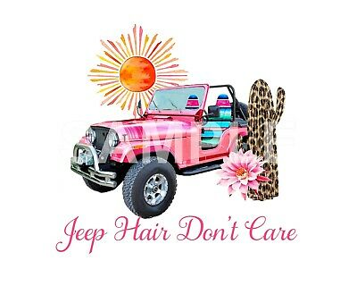 Jeep sublimation or color iron on transfer (choice of 1)