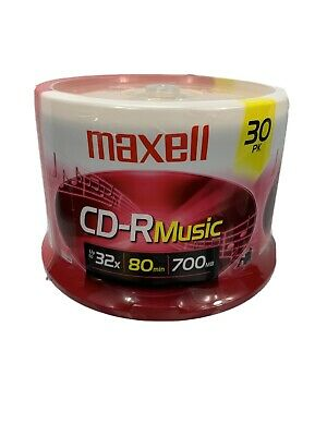 Maxell 80-minute Music Cd-rs (30-ct Spindle)