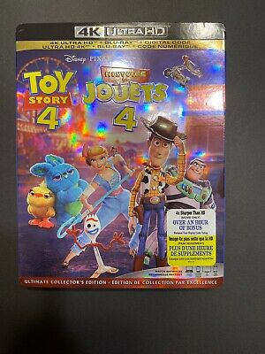 Toy Story 4  [4K Ultra HD + Blu-ray + Digital] (Bilingual) BRAND NEW With Slip