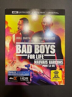 BAD BOYS FOR LIFE (4 K Ultra HD, Blu-ray, Incl. Digital Copy *NEW) Includes Slip