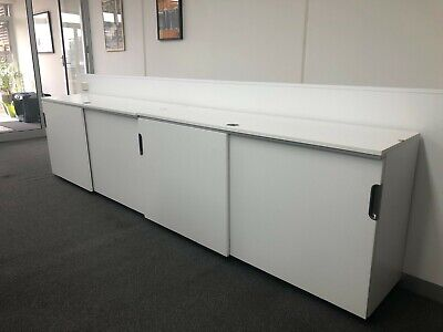 Ikea Galant lockable cabinet with sliding doors.160L x 80H x 45D. 2 available.