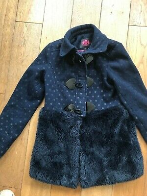Juicy Couture navy coat aged 10 girls excellent condition (fit age 8)