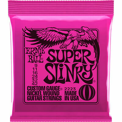 Ernie Ball 2223 Super Slinky Electric Guitar Strings 9-42 DOWN IN PRICE