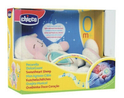 Chicco Sweetheart Sheep First Dreams Lullaby Baby Night Light (Blue). New