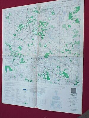 Us Army Military Map, Alstatte Germany 1944 Printed On Captured Map Of Scotland